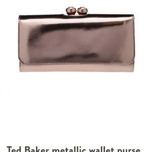 Ted Baker metallic wallet